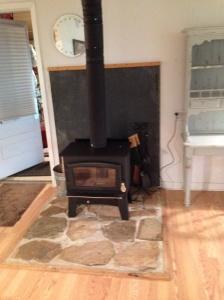 cozy little new woodstove